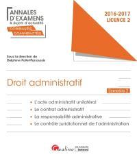 Droit administratif : licence 2 semestre 2 : 2016-2017