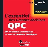 L'essentiel des grandes décisions QPC : 26 décisions commentées sur toutes les matières juridiques