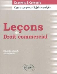 Leçons de droit commercial : cours complet et sujets corrigés