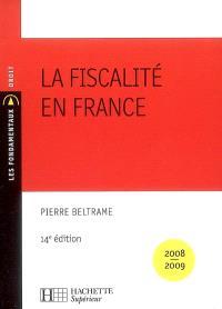 La fiscalité en France : 2008-2009