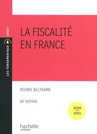 La fiscalité en France : 2010-2011