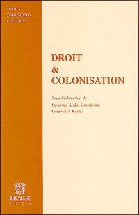Droit et colonisation