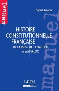 Histoire constitutionnelle française : de la prise de la Bastille à Waterloo