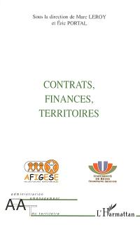 Contrats, finances, territoires