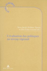 L'évaluation des politiques au niveau régional