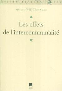 Les effets de l'intercommunalité