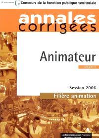 Animateur, catégorie B : session 2006