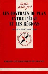 Les contrats de plan entre l'Etat et les régions