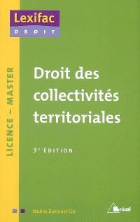 Droit des collectivités territoriales : licence, master