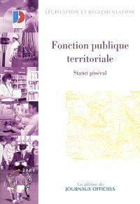 Fonction publique territoriale : statut général