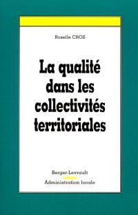 La qualité dans les collectivités territoriales