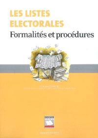 Les listes électorales : formalités et procédures
