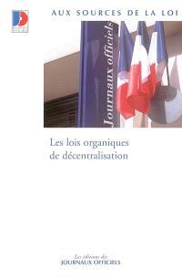 Les lois organiques de décentralisation