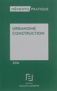 Urbanisme, construction 2016