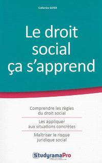 Le droit social ça s'apprend : comprendre les règles du droit social, les appliquer aux situations concrètes, maîtriser le risque juridique social