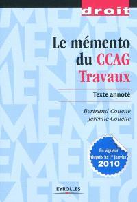 Le mémento du CCAG travaux : texte annoté