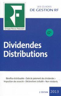 Dividendes, distributions : 2013