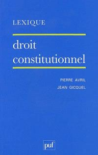 Droit constitutionnel : lexique