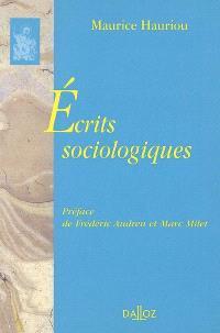 Ecrits sociologiques