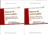 Espaces du service public : mélanges en l'honneur de Jean Du Bois de Gaudusson