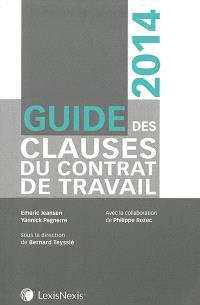 Guide des clauses du contrat de travail : 2014