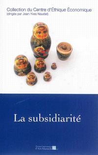 La subsidiarité