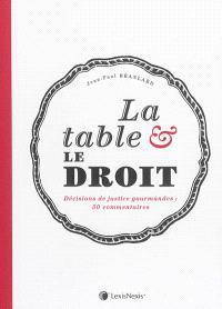 La table & le droit : décisions de justice gourmandes : 30 commentaires