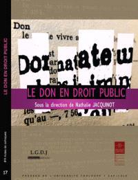 Le don en droit public