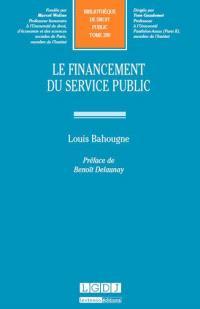 Le financement du service public