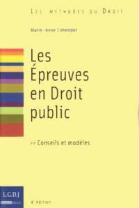Les épreuves en droit public : conseils et modèles