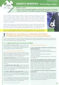 Agents sportifs : guide juridique pratique