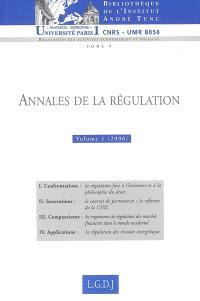 Annales de la régulation. Volume 1 (2006), 2006