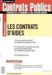 Contrats publics, l'actualité de la commande et des contrats publics. n° 80, Les contrats d'aides