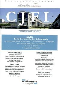Courrier juridique des finances et de l'industrie (Le). n° 53, La loi de modernisation de l'économie