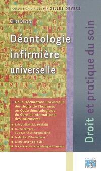 Déontologie infirmière universelle : de la Déclaration universelle des droits de l'homme au code déontologique du Conseil international des infirmières