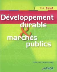 Développement durable & marchés publics