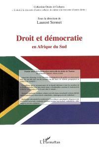 Droit et démocratie en Afrique du Sud