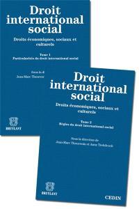 Droit international social : droits économiques, sociaux et culturels