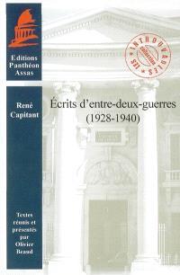 Ecrits d'entre-deux-guerres : 1928-1940