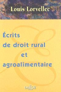Ecrits de droit rural et agroalimentaire : 2002