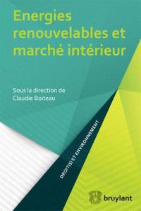Énergies renouvelables et marché intérieur