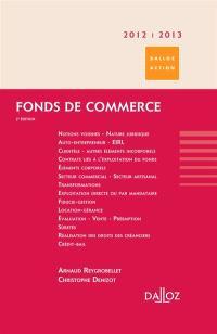Fonds de commerce : 2012-2013