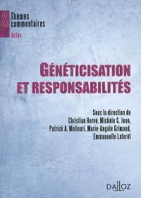 Généticisation et responsabilités