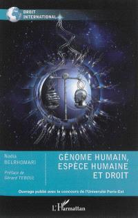 Génome humain, espèce humaine et droit