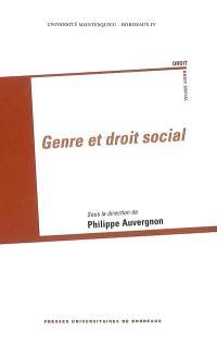 Genre et droit social