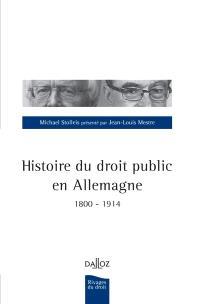 Histoire du droit public en Allemagne : 1800-1914
