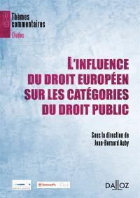 L'influence du droit européen sur les catégories du droit public