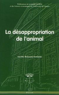 La désappropriation de l'animal
