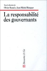 La responsabilité des gouvernants
