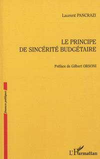 Le principe de sincérité budgétaire